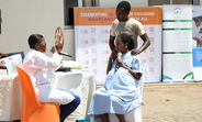 Photo: Midwives presented a sketch on their services with a mother during labor supported by her partners