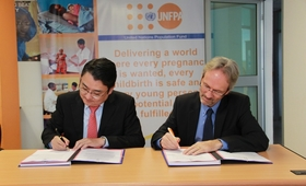 The United Nations Population Fund (UNFPA) signed an MOU with the embassy of the Republic of Korea in Rwanda
