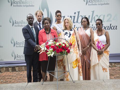 Dr Natalia Kanem Visit Kigali Genocide Memorial